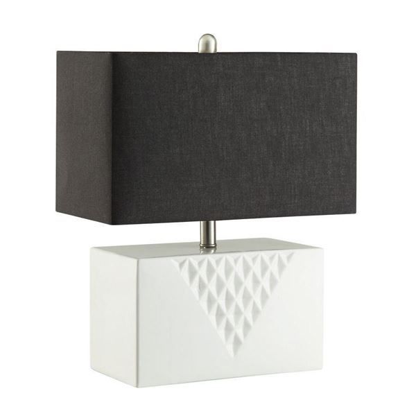 Table lamp white 901522 coaster company afw foto para table lamp white d aloadofball Gallery