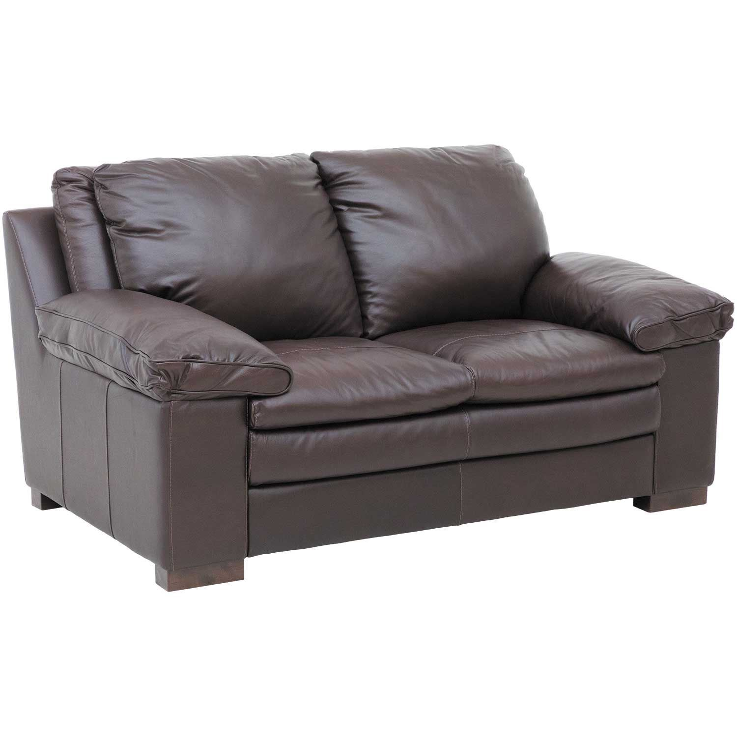 Leon Italian All Leather Loveseat 4553 Love Soft Russet Soft Line Afw