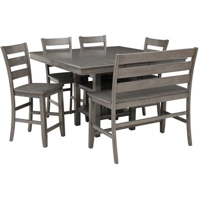 Picture of Earl Grey 6 Piece Counter Height Dining Set