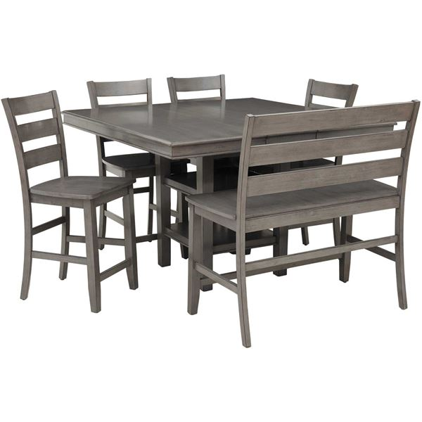 Earl Grey 6 Piece Counter Height Dining Set | Lifestyle Furniture ...