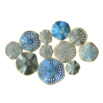 Picture of Blue Grey Metal Wall Decor