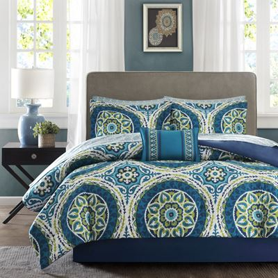 Picture of King Serenity Aqua Medallion Comforter Set