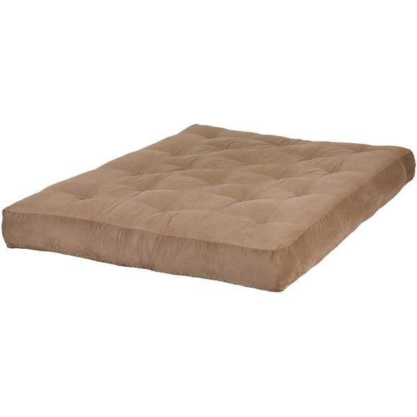"Cannon Sleep 8"" Innerspring Futon Mattress in Peat Suede"