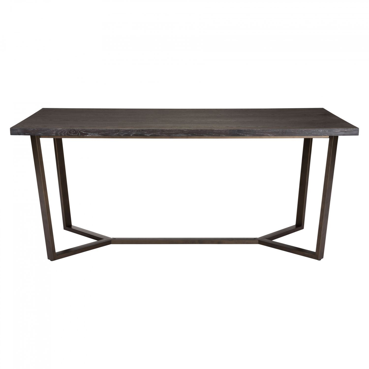 Picture of Brooklyn Dining Table Oak Antique Brass Box Brooklyn Dining  Table Oak Antique Brass. - Brooklyn Antique Furniture Getpaidforphotos.com