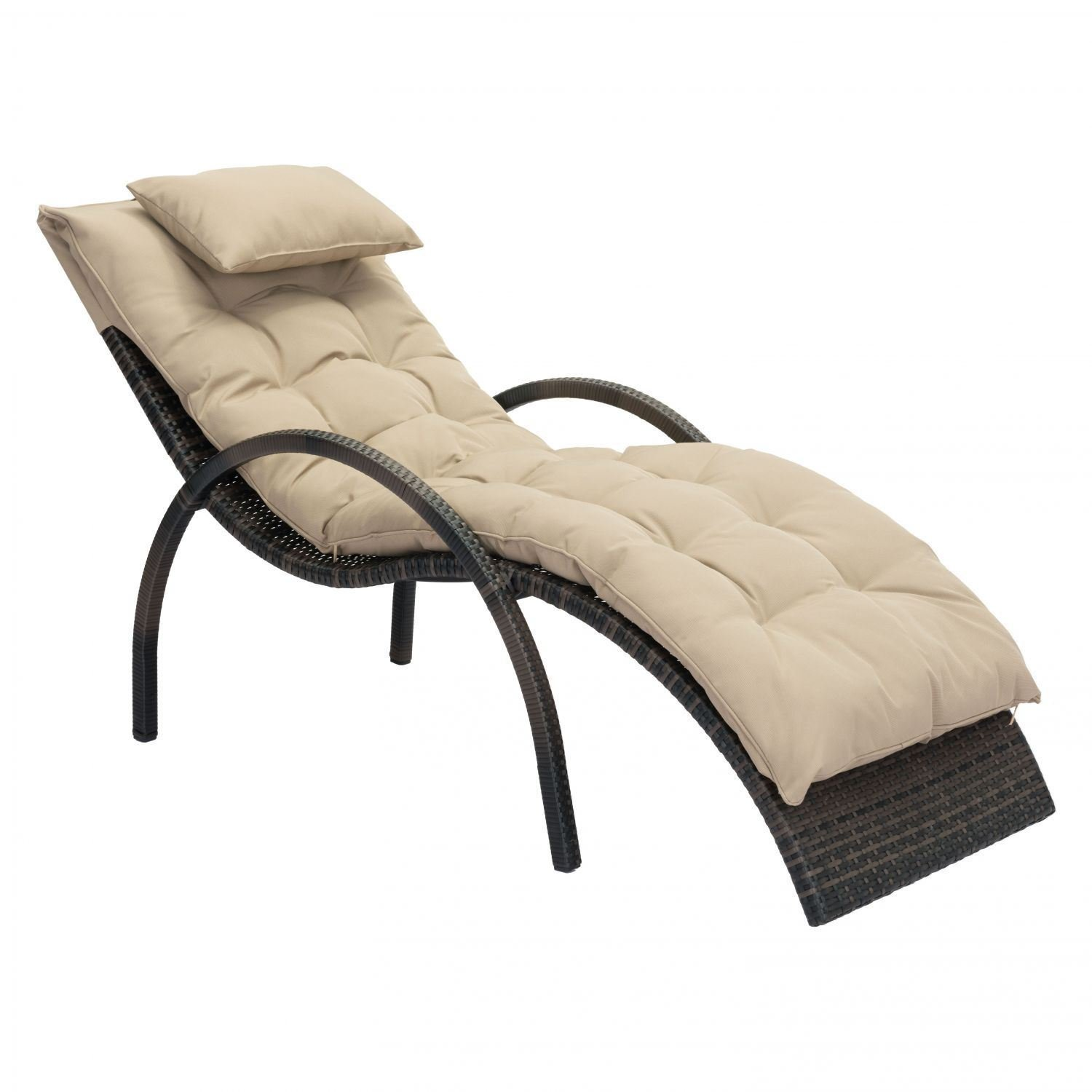 Eggertz Beach Chaise Lounge Brown Beige Zuo Modern Contemporary