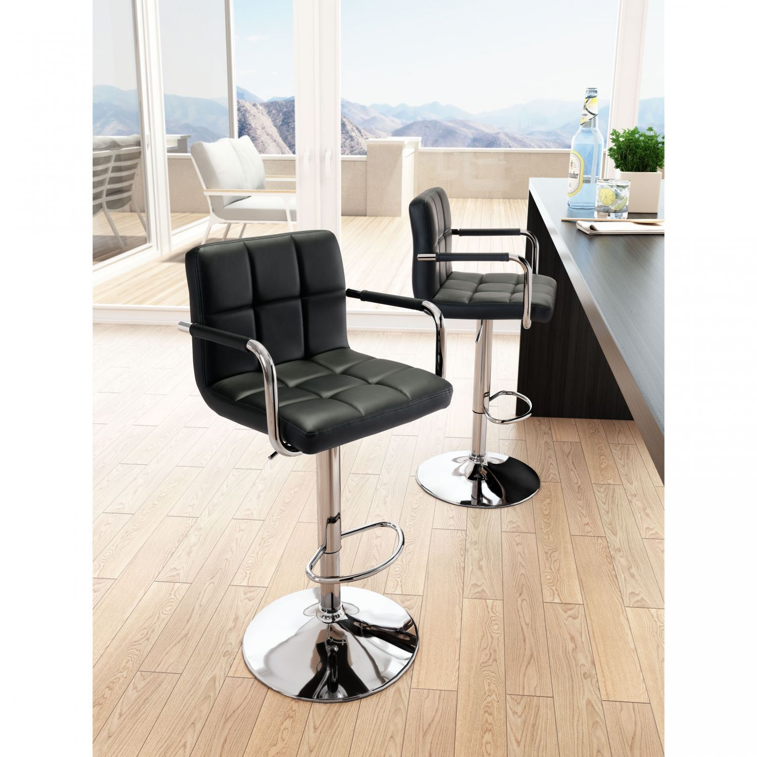Henna Bar Chair Black 100612 Zuo Modern Contemporary Afw