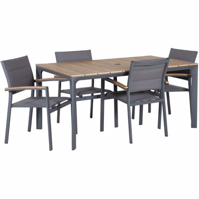 Picture of Carbon Oak 5 Piece Patio Dining Set