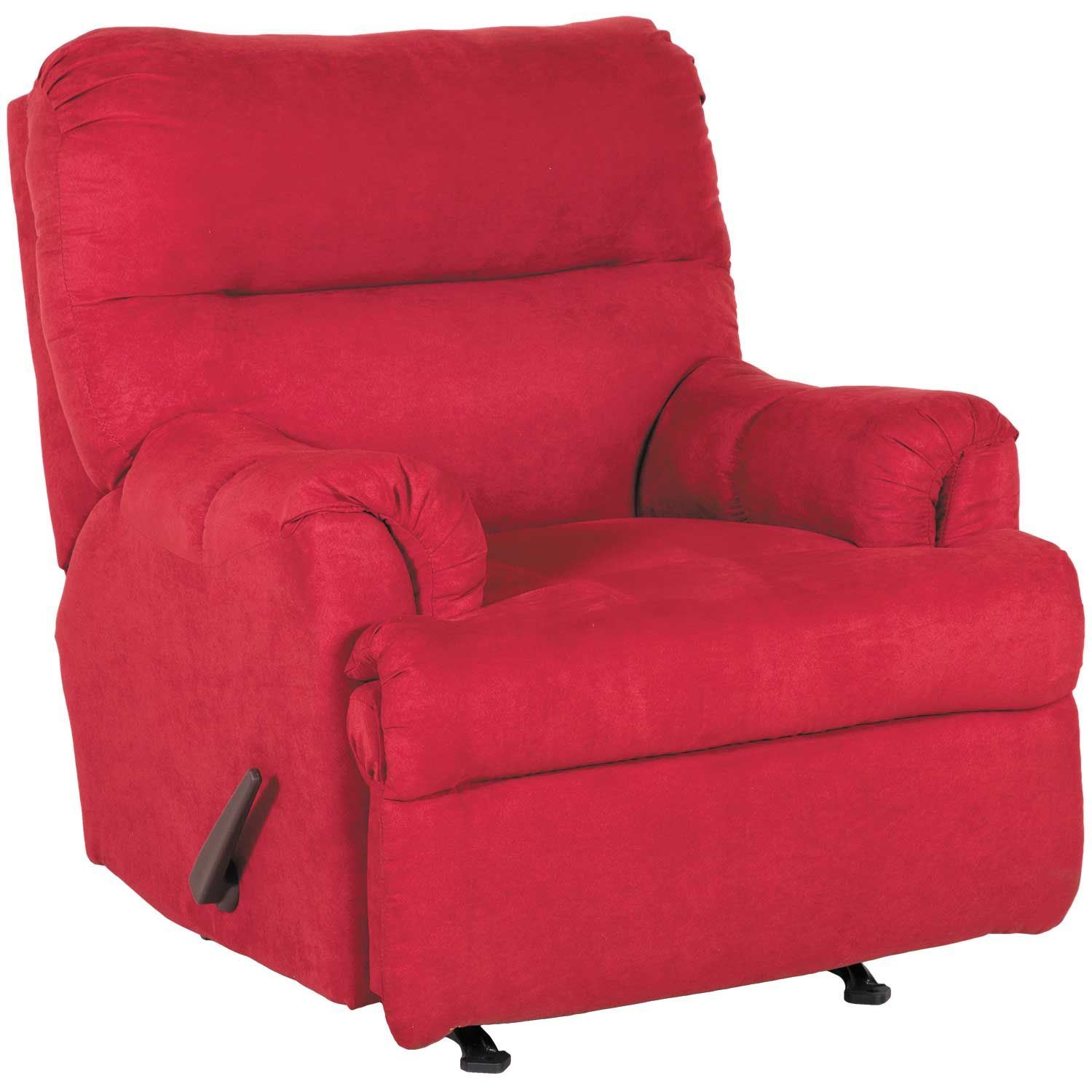 Ashley Furniture Redding Ca: Aden Red Brick Rocker Recliner