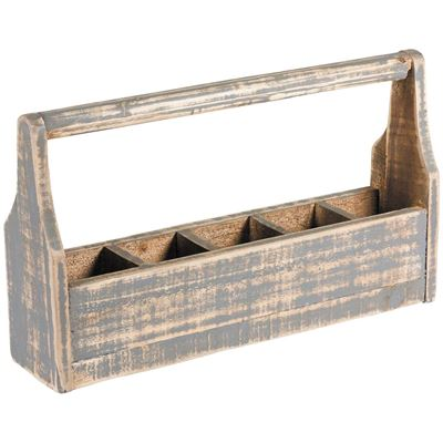 Picture of Compartment Box With Handle Gray