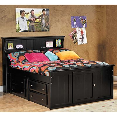 Picture of Laguna Full Bookcase Bed With Underbed Storage