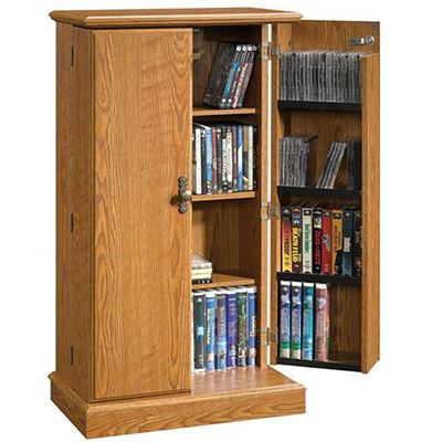 Picture of Audio or Video Storage Cabinet in Oak Finish