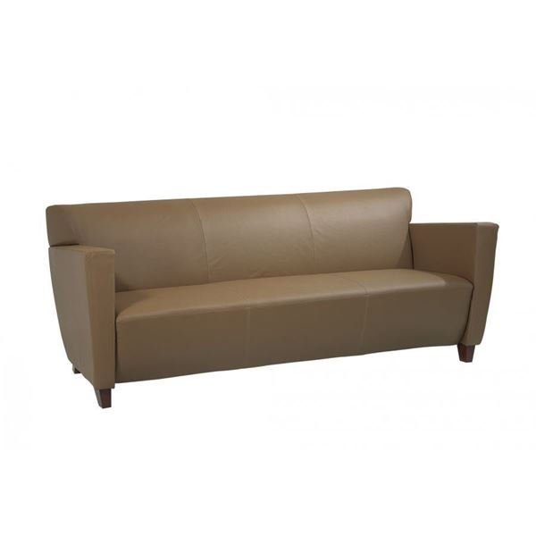 Picture Of Taupe Leather Sofa D
