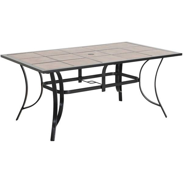 Picture Of Tivoli Rectangular Tile Top Patio Dining Table