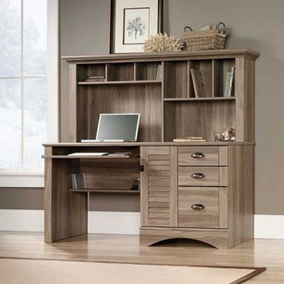 Imagen de Sauder Harbor View Computer Desk w/Hutch