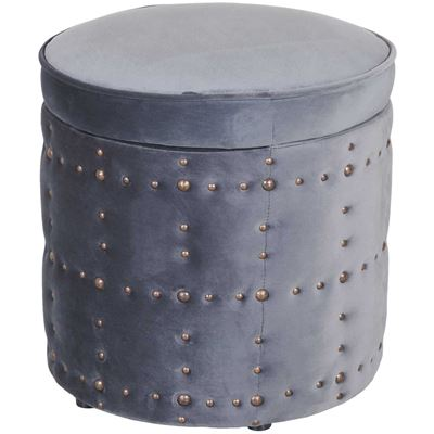 Picture of Allie Metal Gray Storage Ottoman