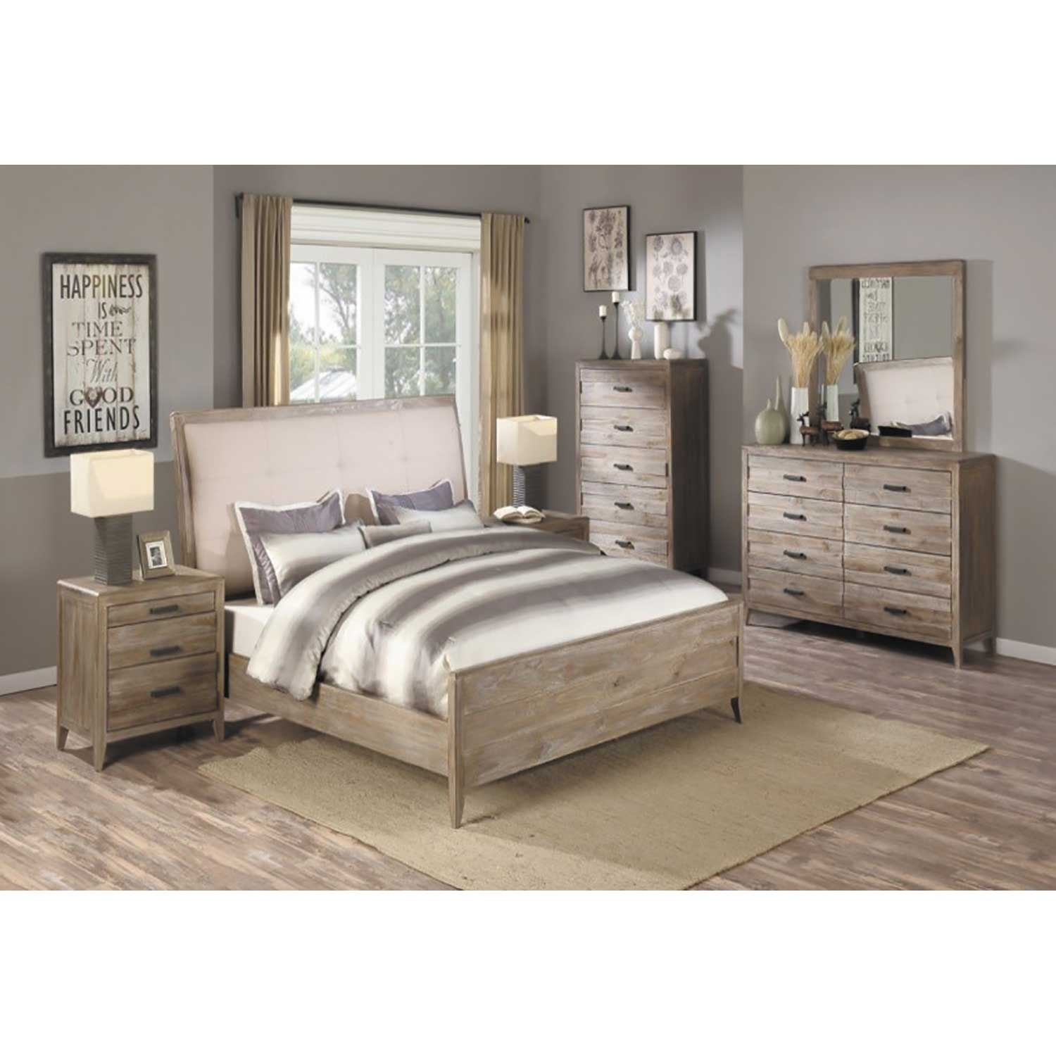 torino 5 piece bedroom set b323 qbed04012505 emerald home furnishings afw. Black Bedroom Furniture Sets. Home Design Ideas