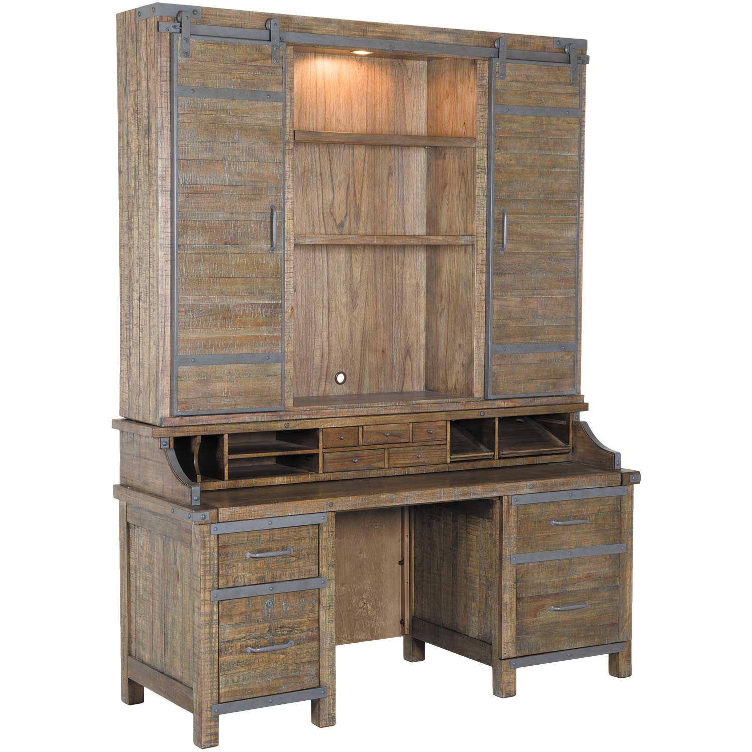 American Furniture Store: Artisan Revival Smart Top Credenza With Hutch