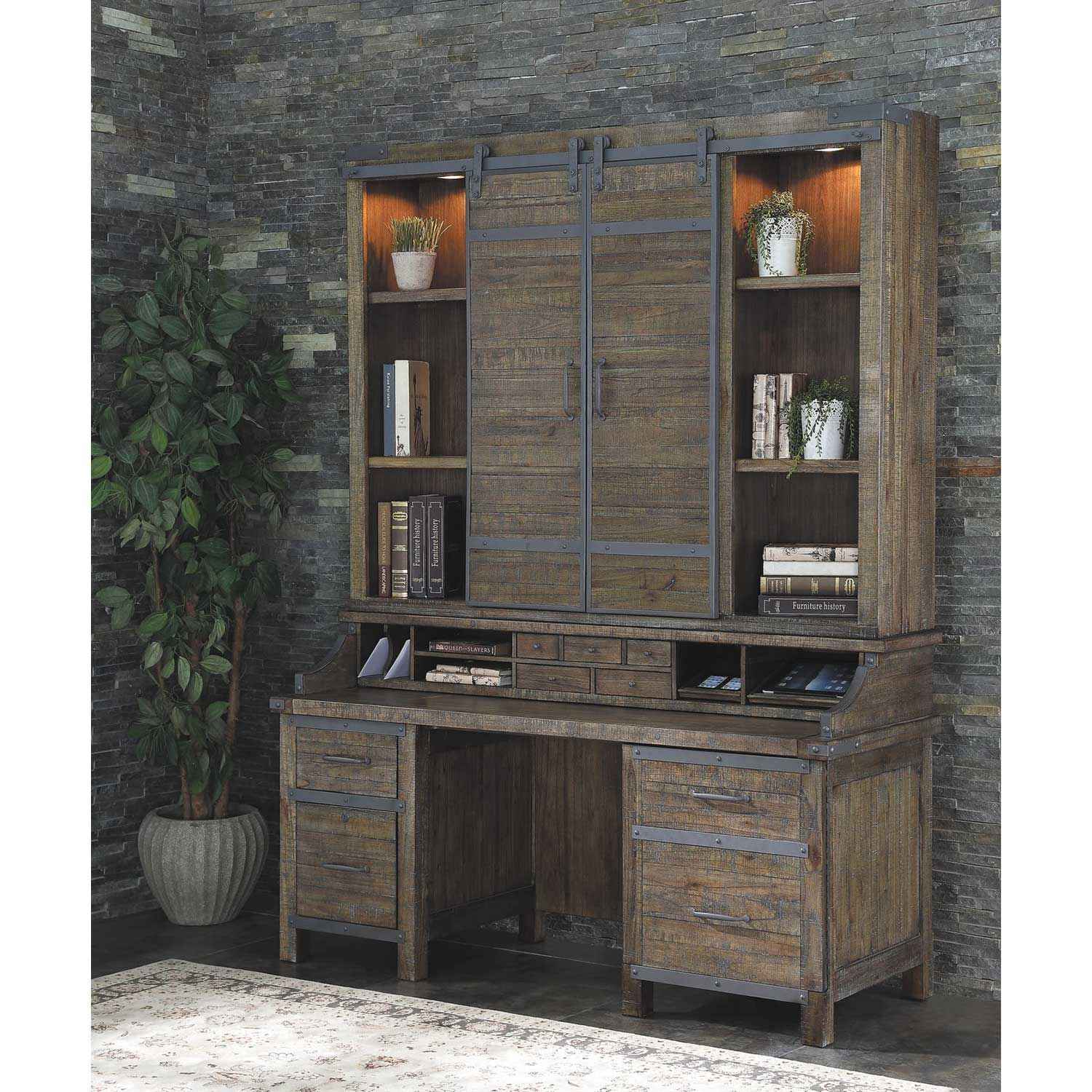 Artisan Revival Smart Top Credenza With Hutch