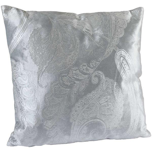 Snow Paisley 18x18 Pillow 16 356c Grey 45x45 30 Ct