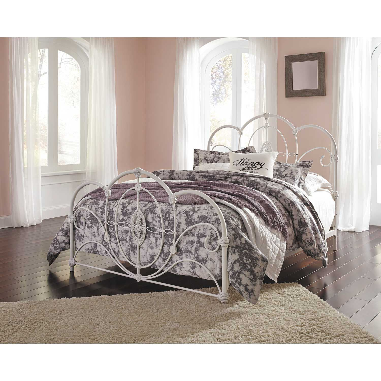 Loriday Queen Size Metal Bed B107 Qbed Ashley Furniture Afw