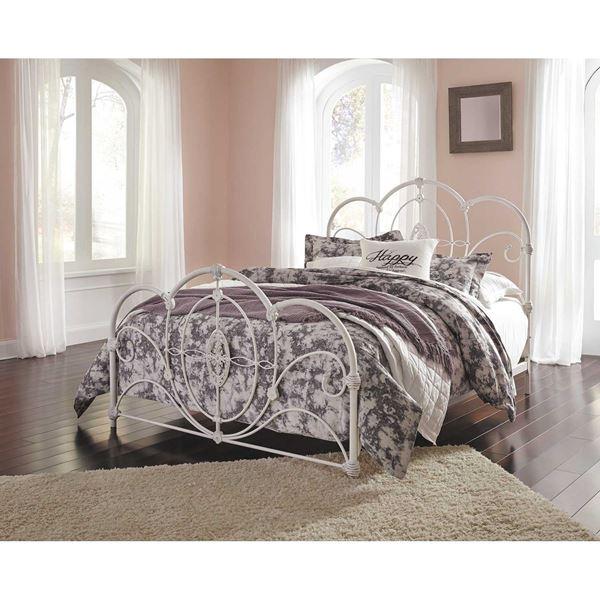 Merveilleux Loriday Queen Metal Bed