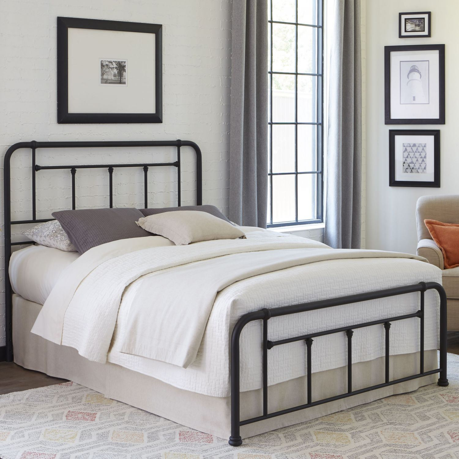 Amazing Picture Of Baldwin Complete Twin Bed With Black Finish * D