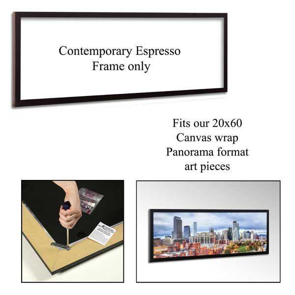Contemporary Espresso Frame 60x20 Frm 53espr American Furniture