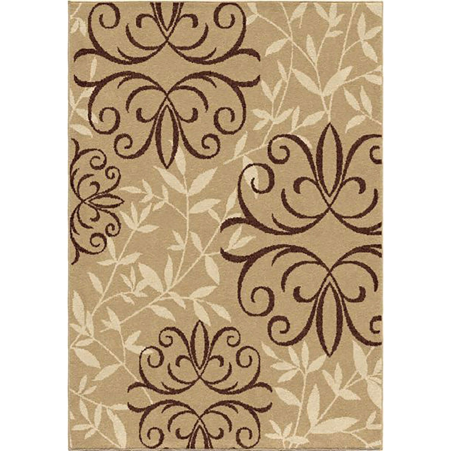 Picture Of Sonoma Fleur Medallion Easy Clean Rug