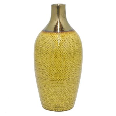 Imagen de Yellow Gold Ceramic Vase