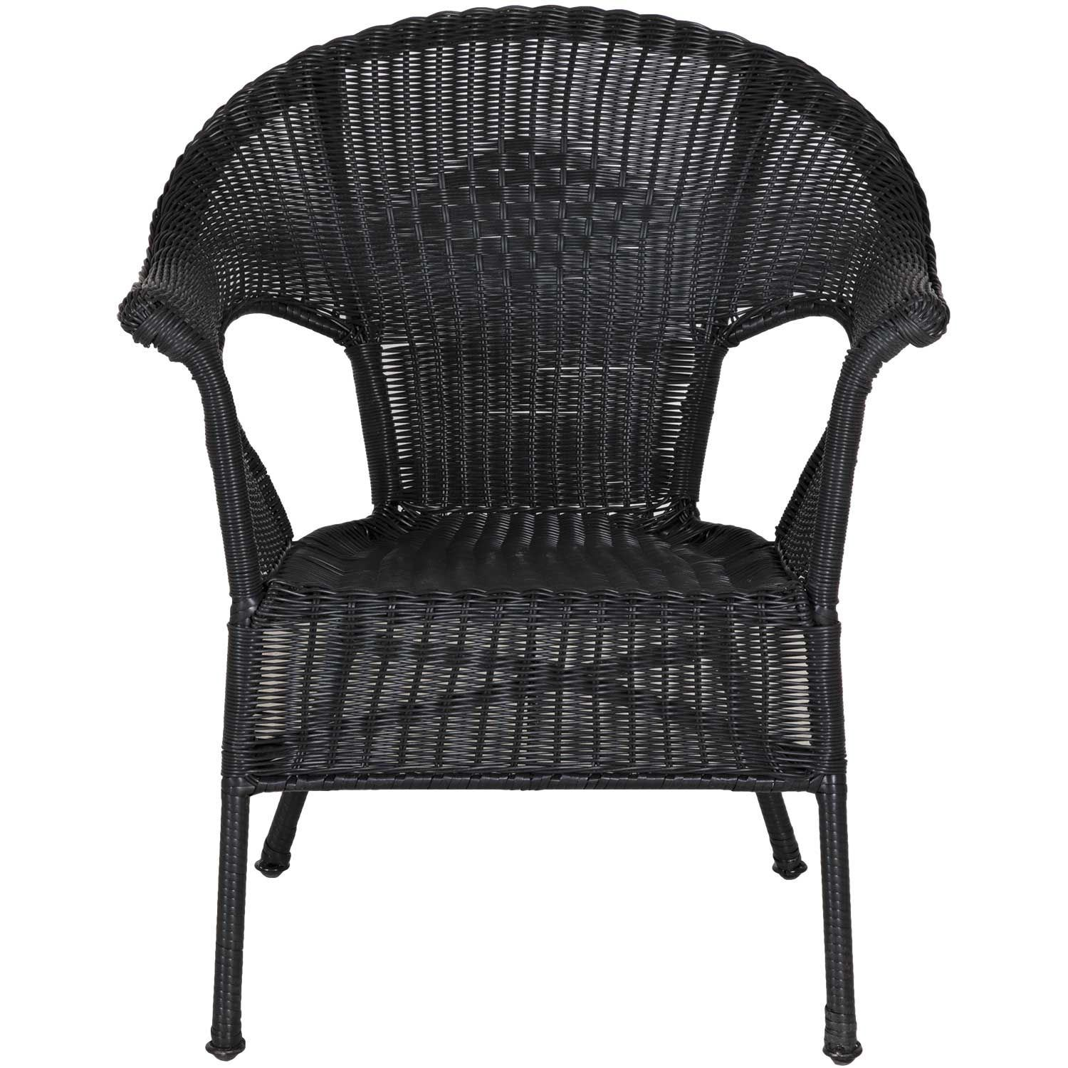 Resin Wicker Black Arm Chair Cwmh12282 Black Chi Wing