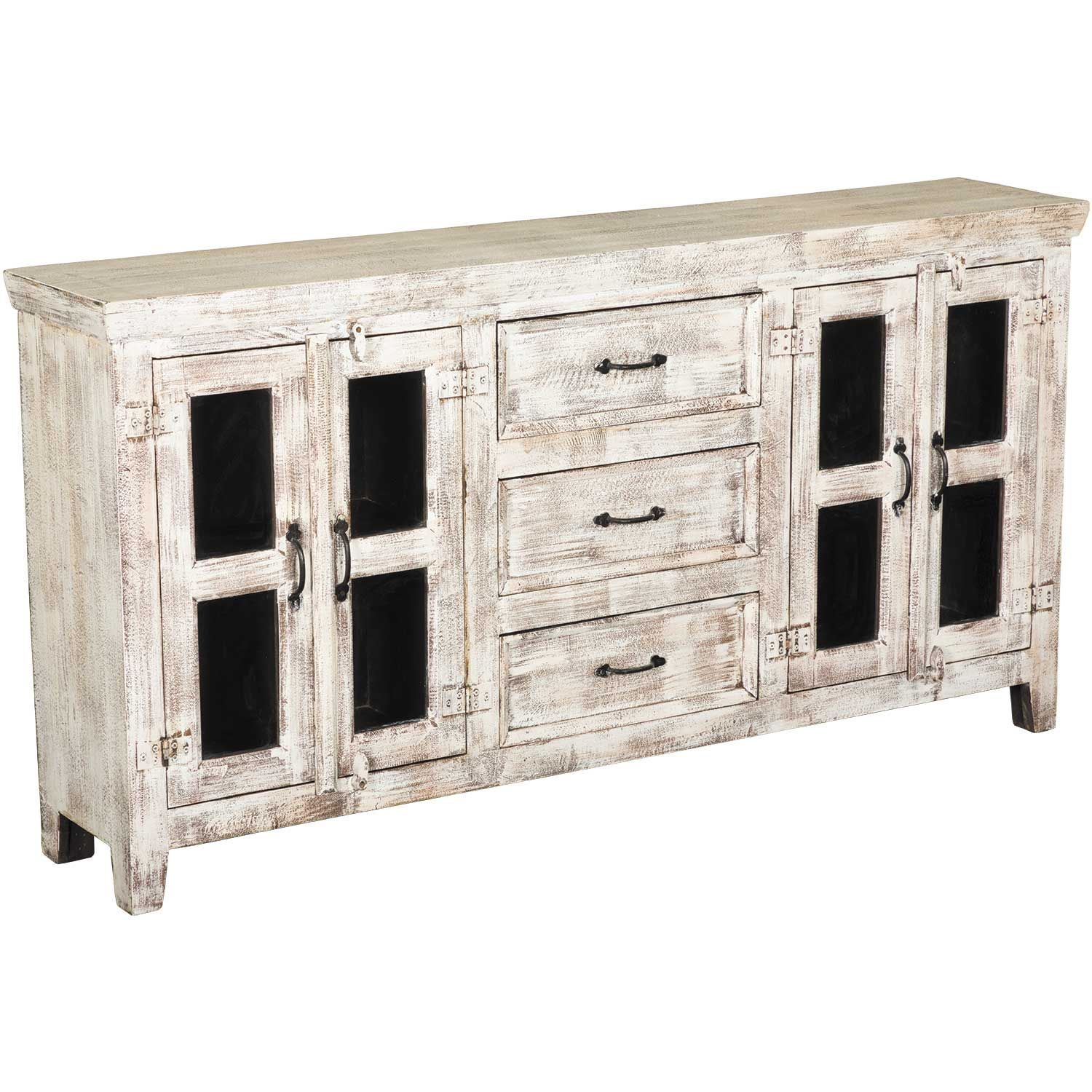 White Rustic Console Sideboard