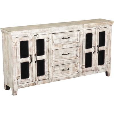 Picture of White Rustic Console Sideboard