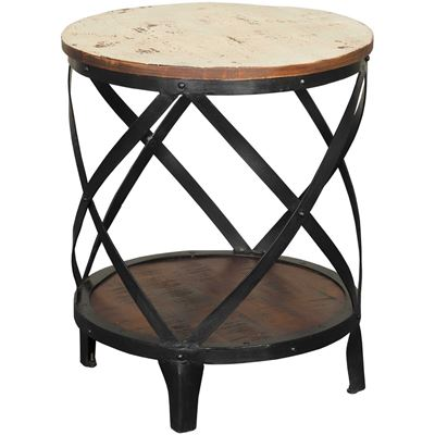 Beau Picture Of Vintage Round Side Table
