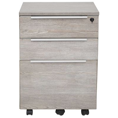 Imagen de Manhattan 3 Drawer Mobile Pedestal, Grey