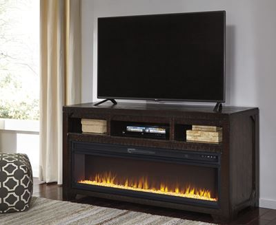 Picture of Rogness TV Stand With Fireplace