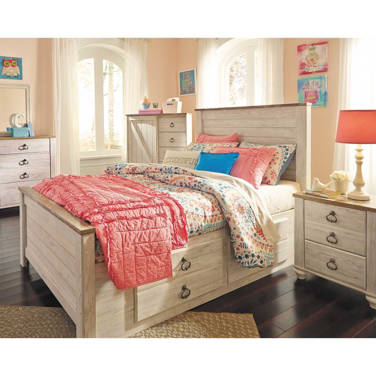 Ashley Furniture Manufacturing: Willowton Full Storage Bed