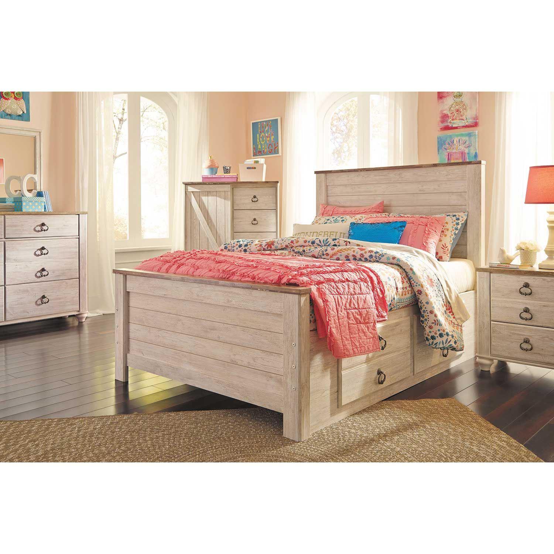 Willowton Full Storage Bed B267 84 87 50 12 Ashley Furniture Afw