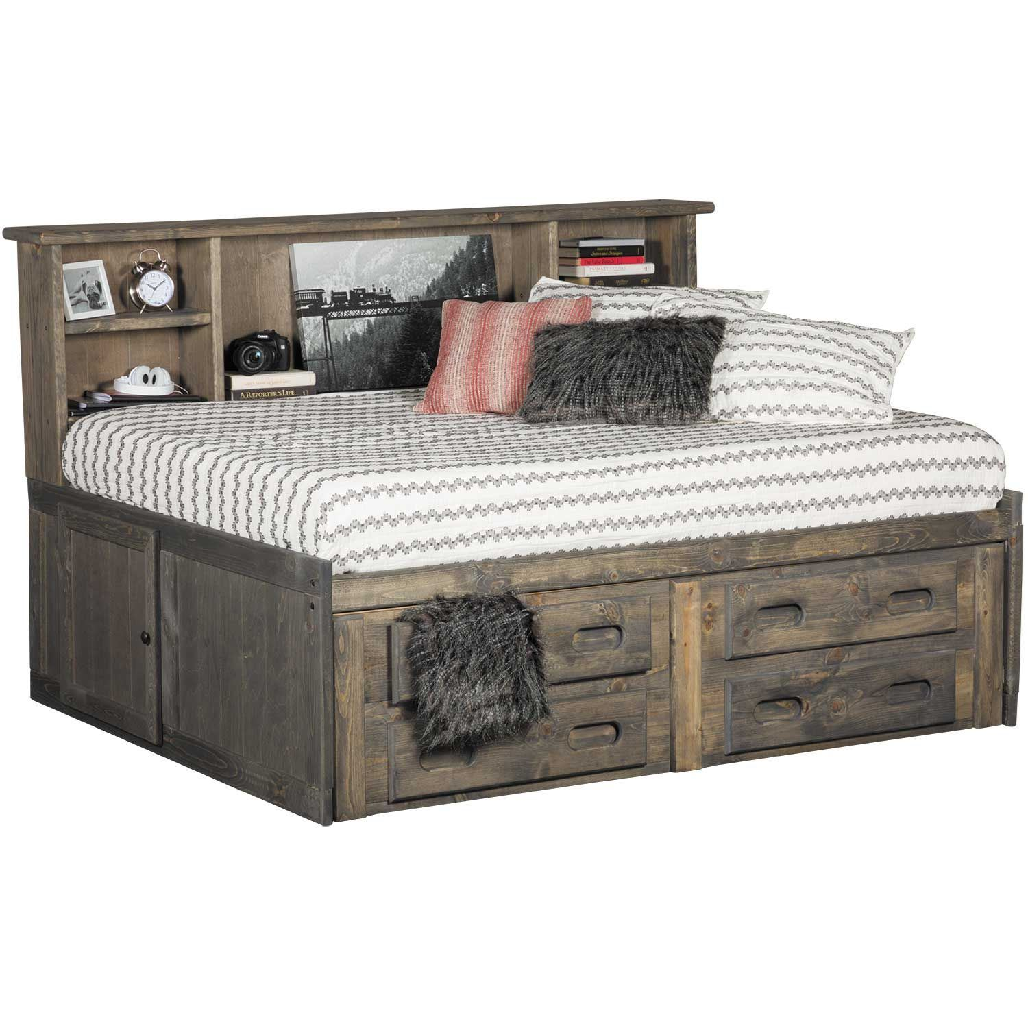 Cheyenne Driftwood Full Roomsaver Capitain's Bed