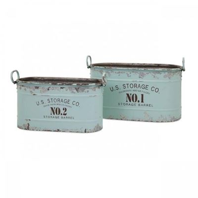 Imagen de Set of 2 Fenton Iron Tubs