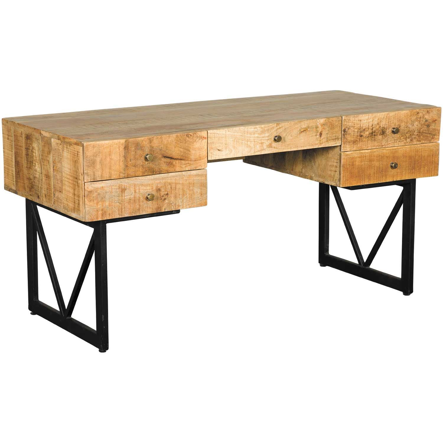 Picture of Vintage Industrial Writing Desk - Vintage Industrial Desks And Writing Tables American Furniture