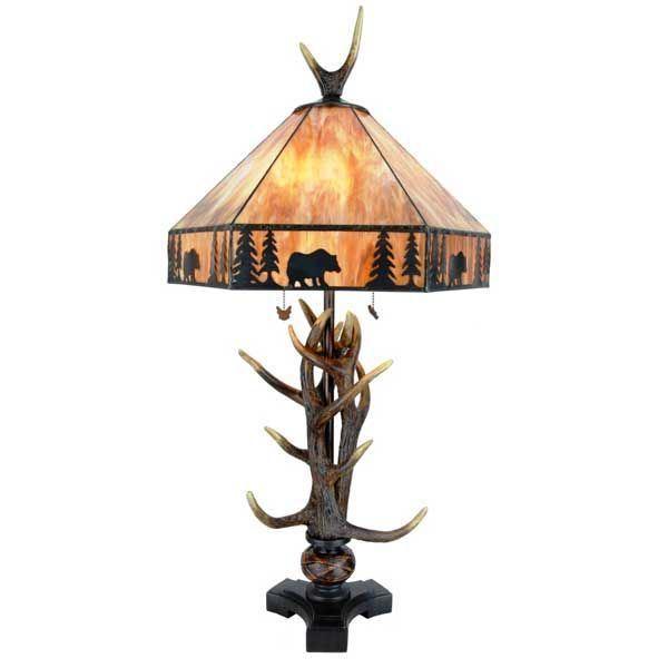 elderwood antler lamp adt444cc colour creations afw