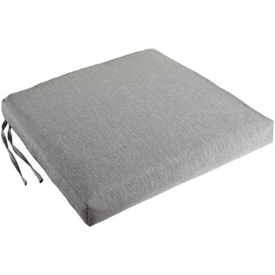 Picture of Single Box Seat Cushion in Solid Grey