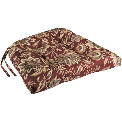 Picture of Single Seat Cushion in Floral on Plum