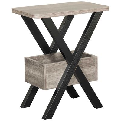 Imagen de Black and Gray Chairside Table