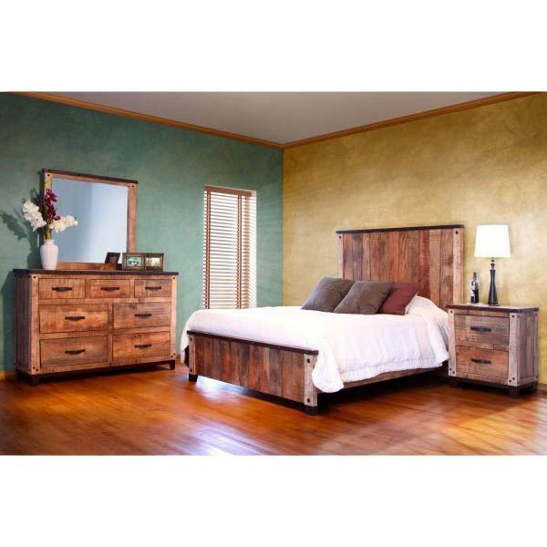 Antique collection 5 piece bedroom set 766 artisan home by ifd afw - Vintage bedroom set ...