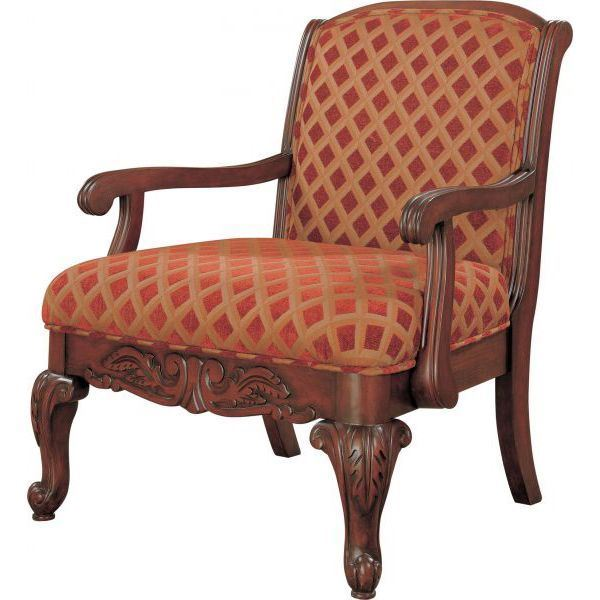 Picture Of Accent Chair, Red/Gold *D