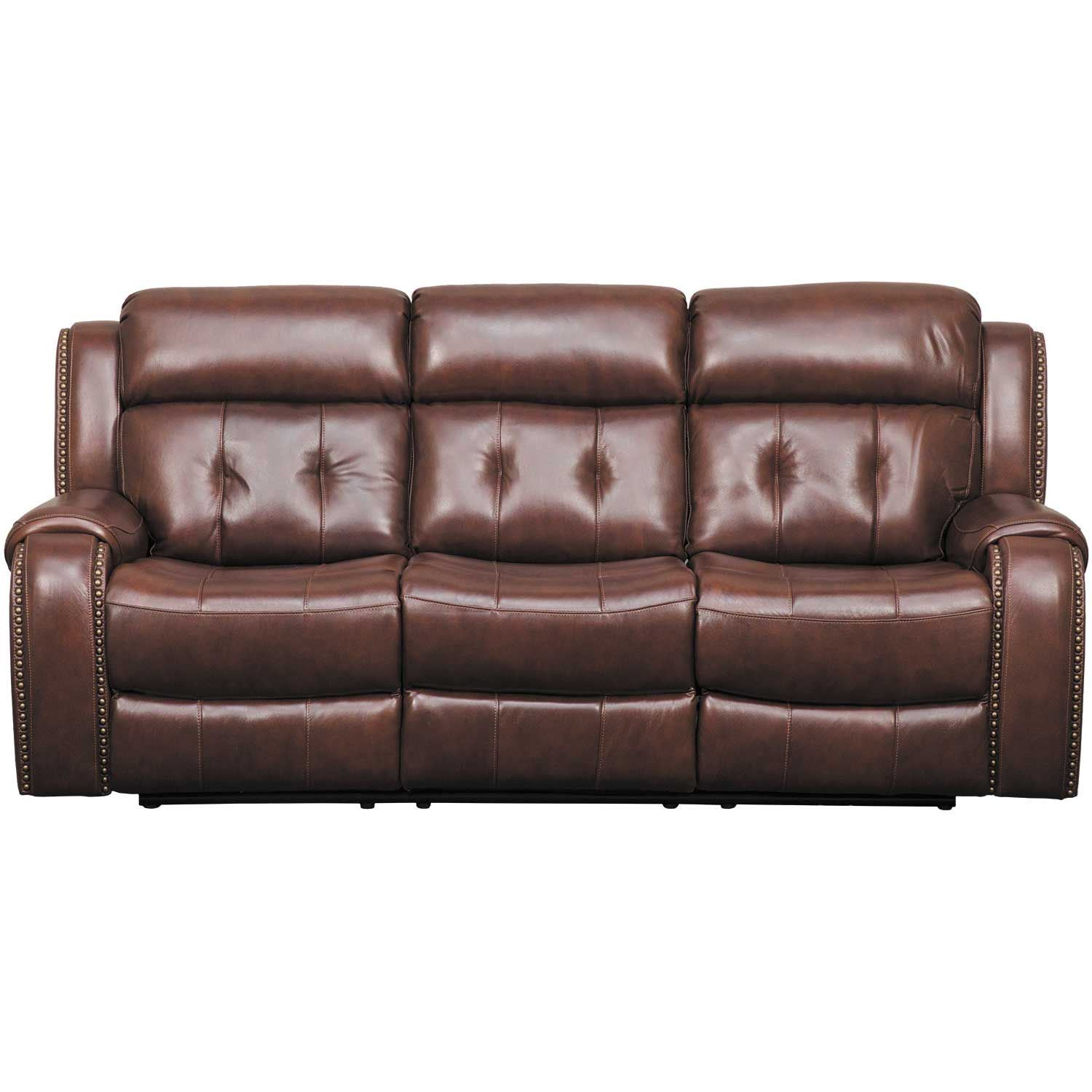 Owen Leather Power Reclining Sofa With Headrest 1A-2435PRS