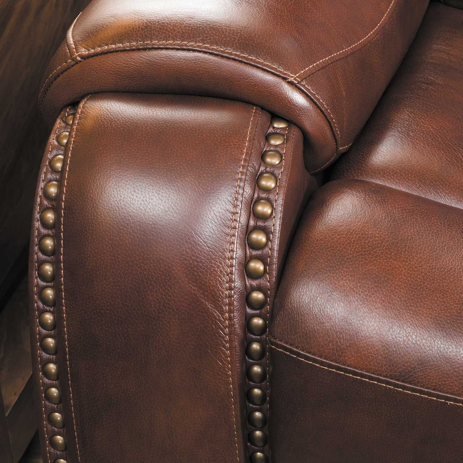 Owen Leather Power Reclining Sofa With Headrest 1a 2435prs