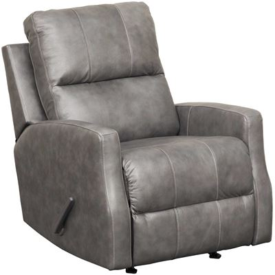 Picture of Gulfbay Charcoal Leather Rocker Recliner
