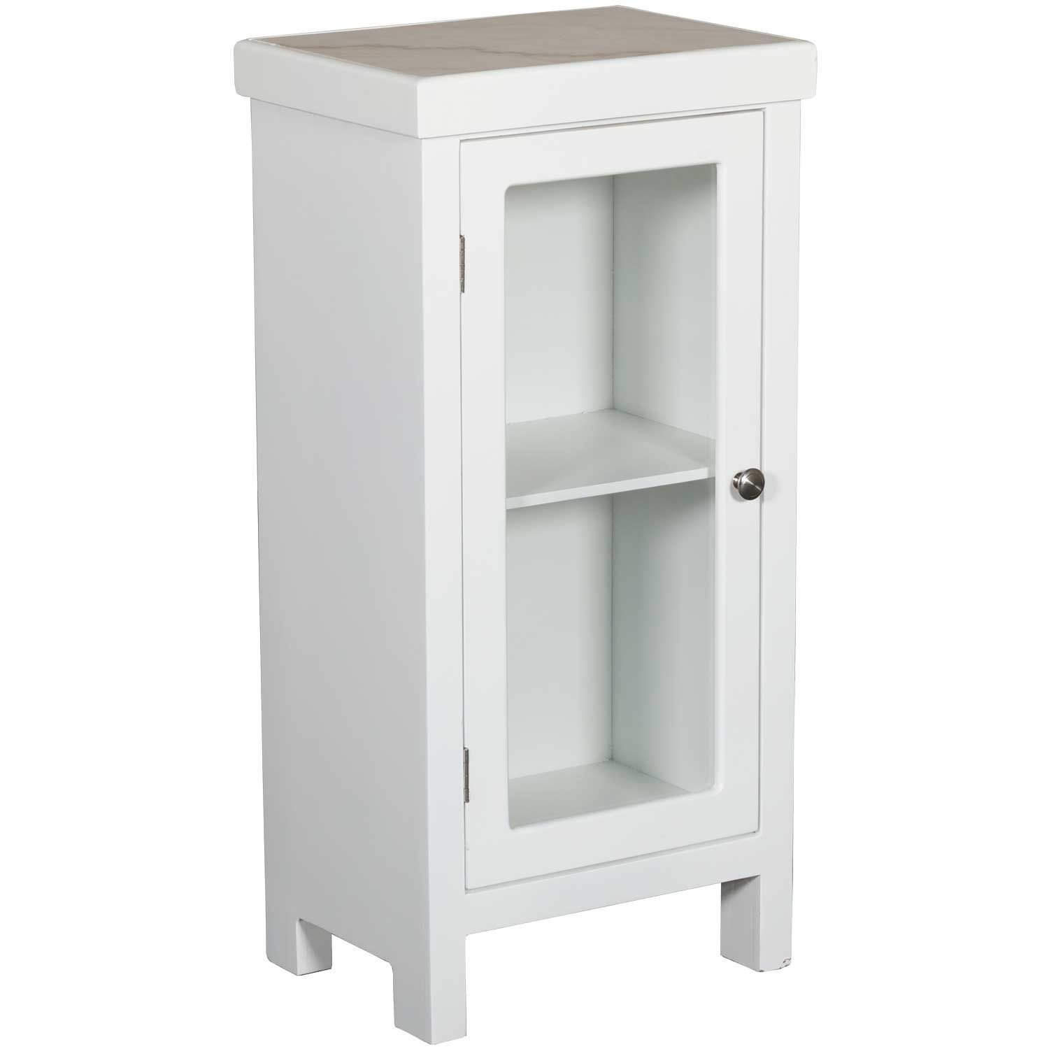 Picture Of Small White Marble Top Storage Chest